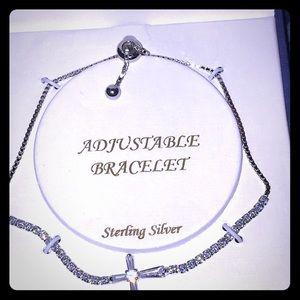 NWT Rachel Zoe Sterling Silver cross bracelet